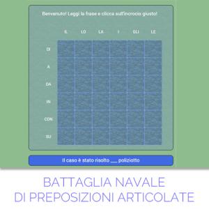 BATTAGLIA NAVALE PREP. ARTICOLATE