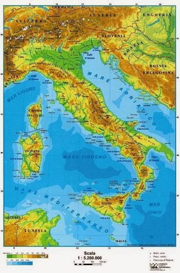 Cartina Geografica Italia Fisica Da Colorare - Immagini Colorare